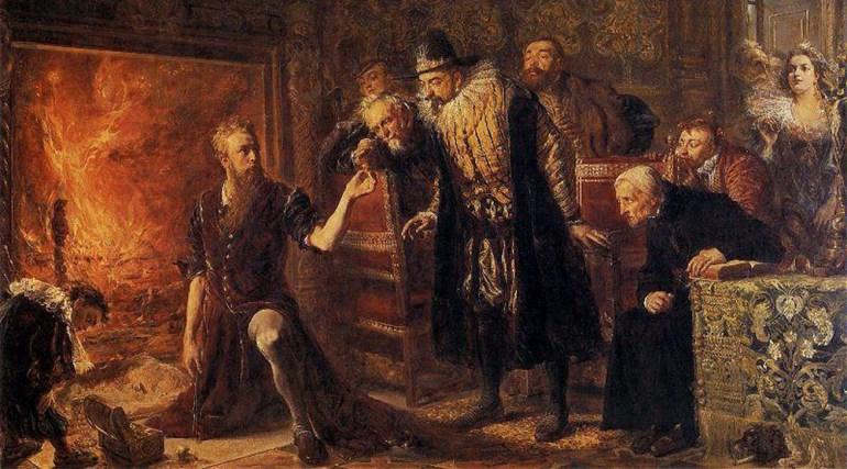 Jan Matejko, Sędziwój The Alchemist, 1867, photo: Muzeum Sztuki in Łódź