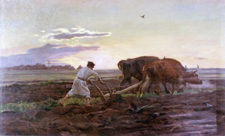 "Tillage... Polish way - on a painting by Jan Chełmoński (""Orka""); photo: Laski Diffusion / East News"