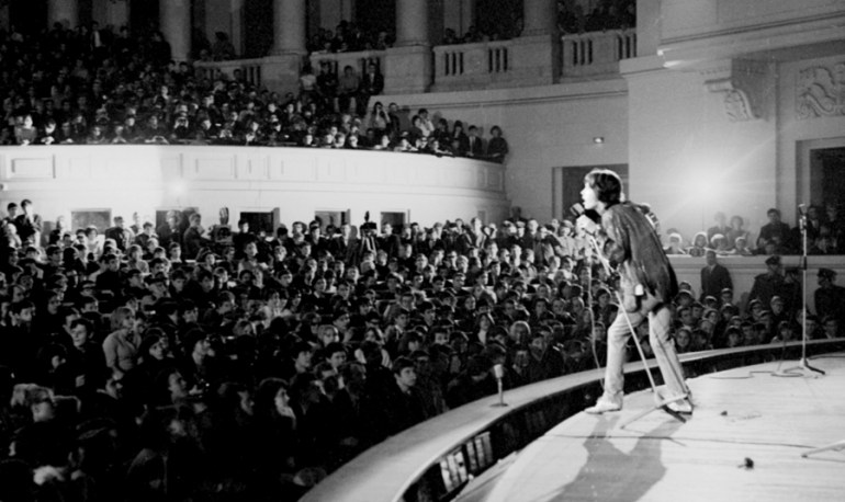 The Rolling Stones performing at Sala Kongresowa of the Palace of Culture and Science, 1967, photo: Wojciech Drushch / Reporter