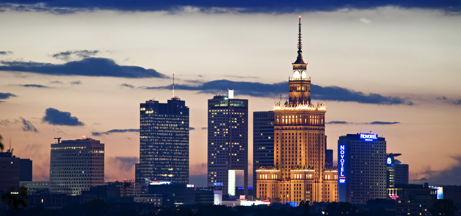 Panorama centrum Warszawy, fot. Andrzej Sidor / Forum