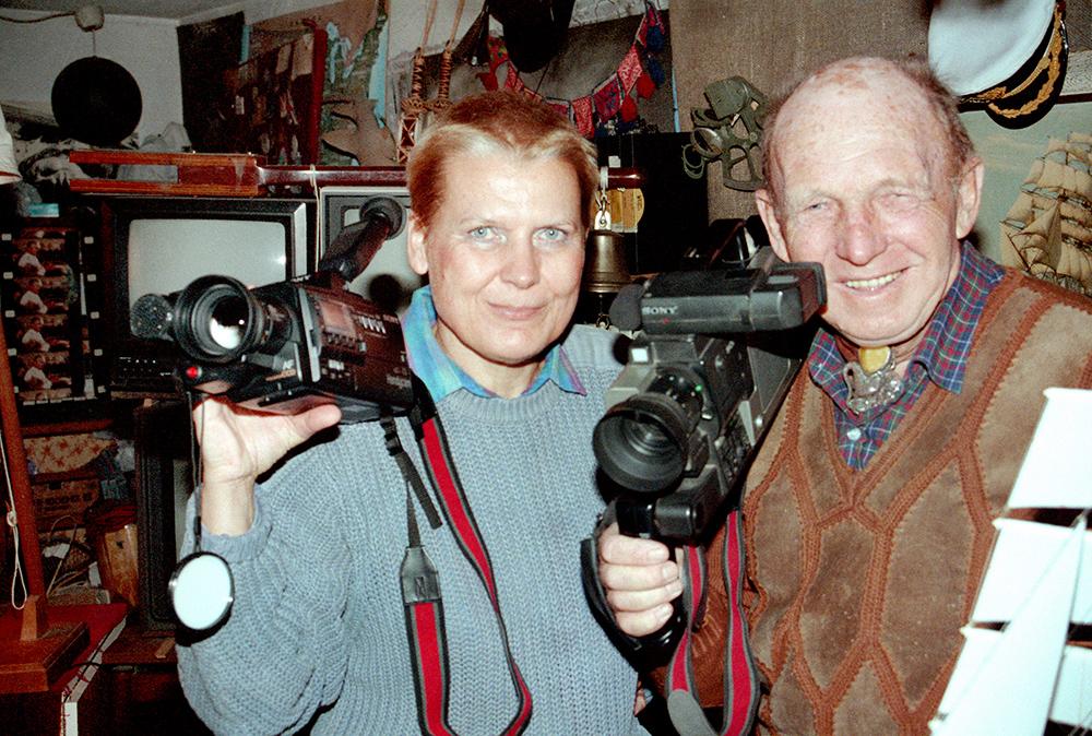 Tony Halik and Elżbieta Dzikowska at their home, photo: Ireneusz Sobieszczuk / Forum
