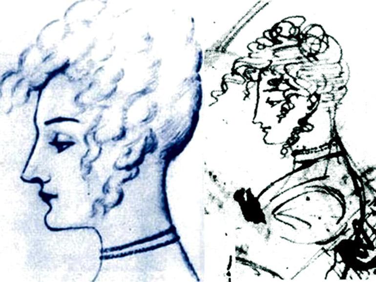 Портрет Каролины Собаньской авторства А. С. Пушкина, 20-е годы XIX века, фото: Wikimedia