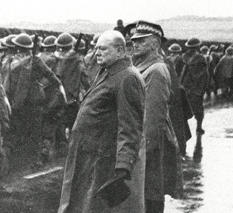 Winston Churchill & General Wladyslaw Sikorski at a parade of the 1st Podhale Rifles Regiment in October 1940, photo: FoKa / Forum