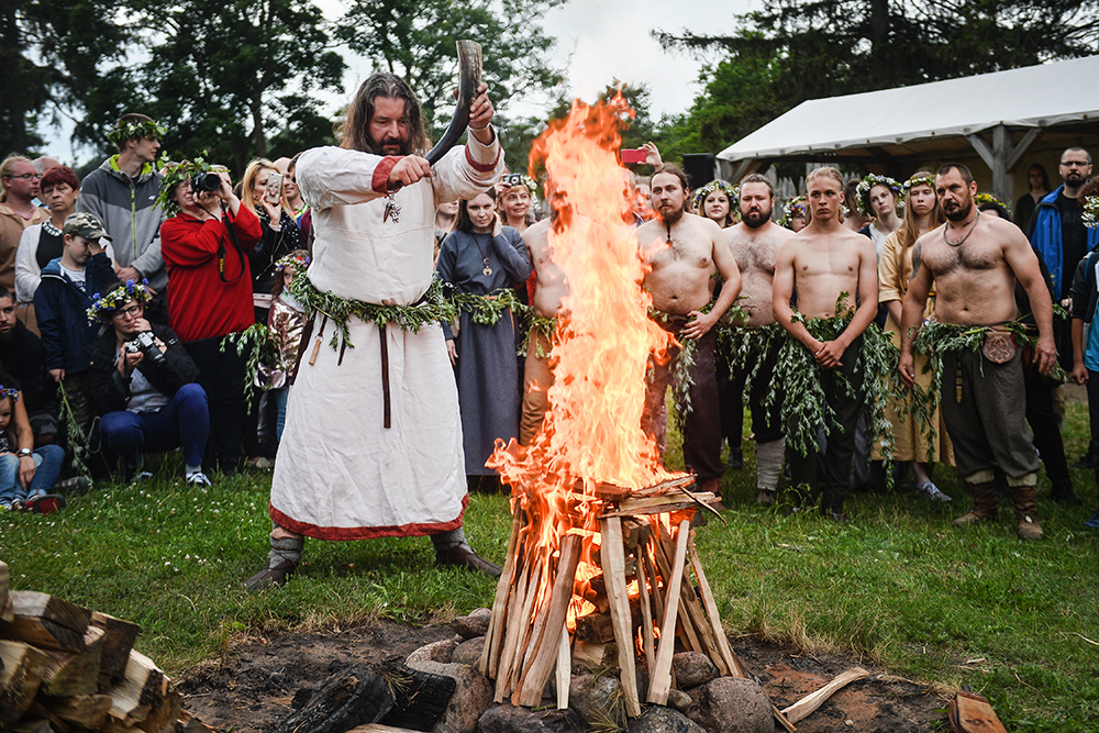 Reconstruction of Kupala Night in Owidz gord, photo: Łukasz Dejnarowicz/Forum