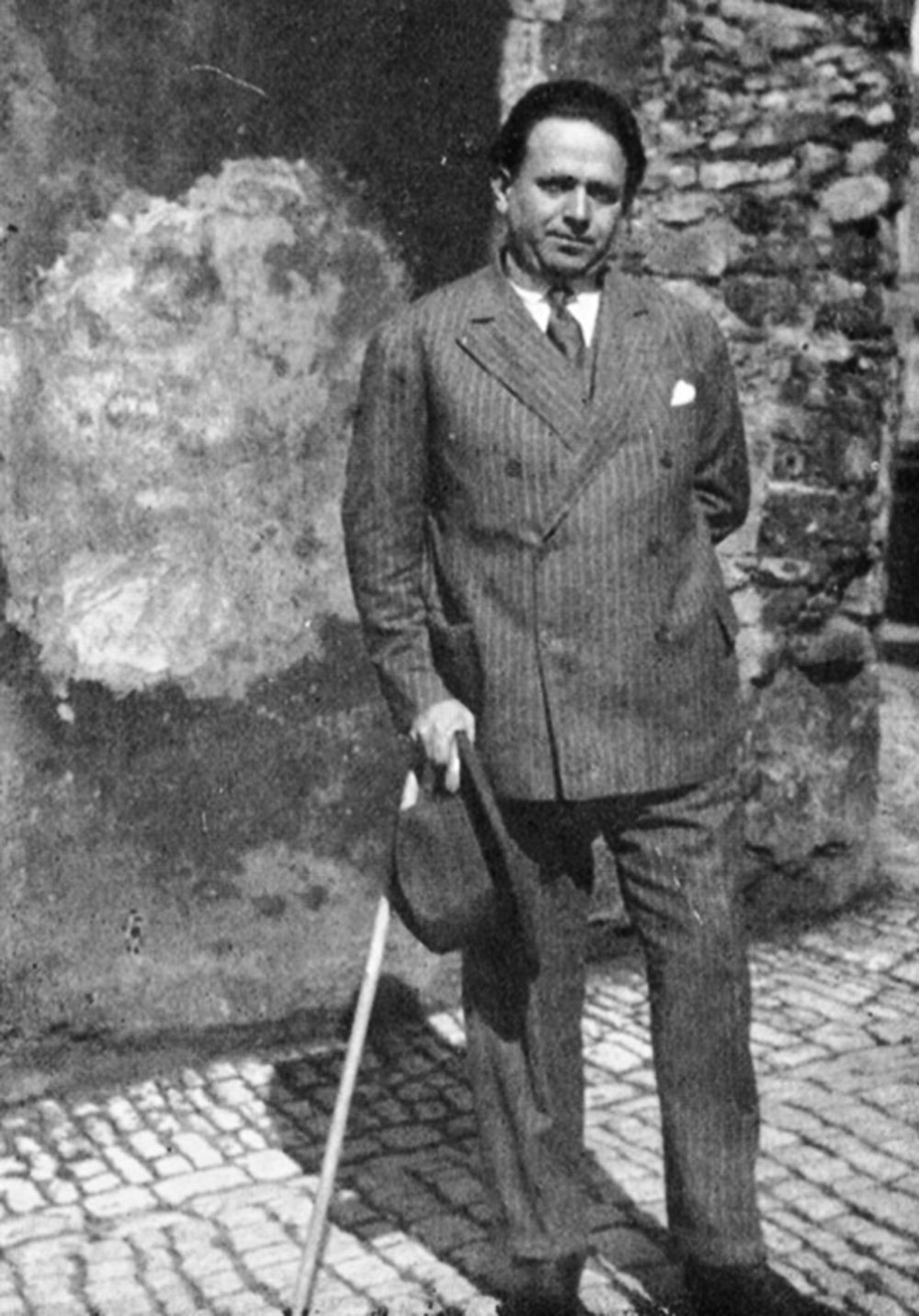Kurt Tucholsky in Paris, 1928, photo: Sonja Thomassen