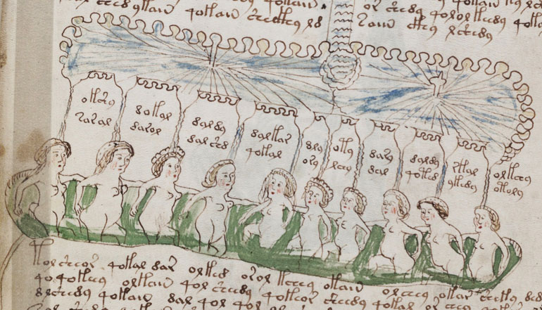 Voynich Manuscript, details, photo: BL