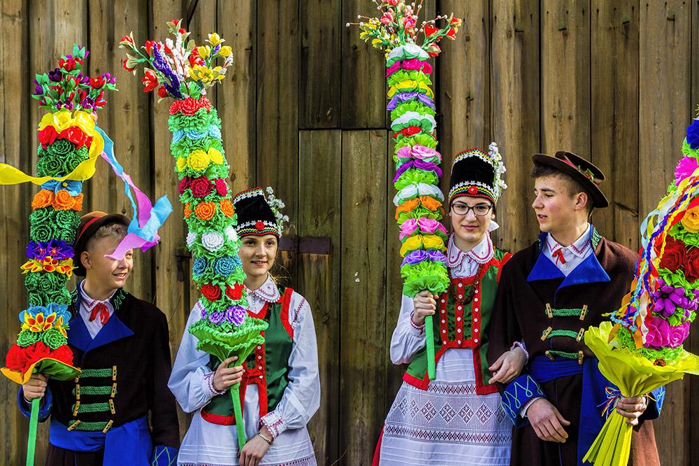 Palm Sunday in Lyse (Kurpie), Poland, photo: Sławomir Olzacki/AG