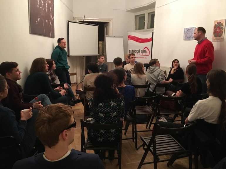 Belarusian language taught to Belarusians in Warsaw; Photo: Facebook