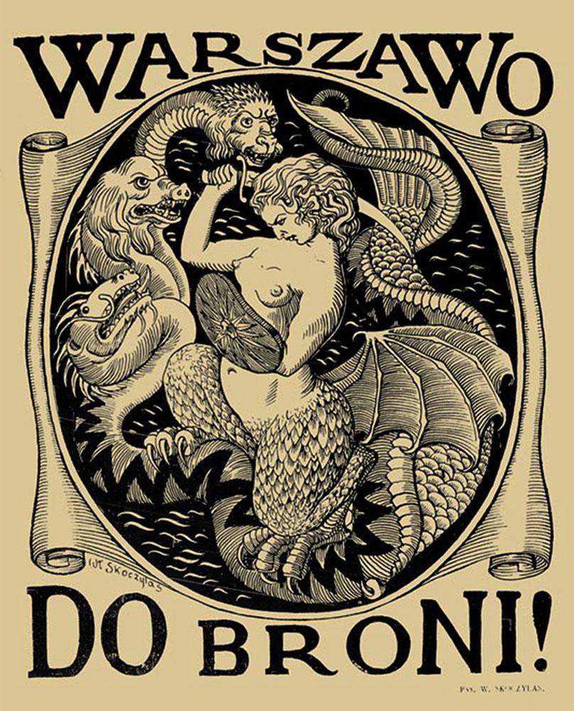 Władysław Skoczylas, Warszawo do broni!, 1920, photo: MMW