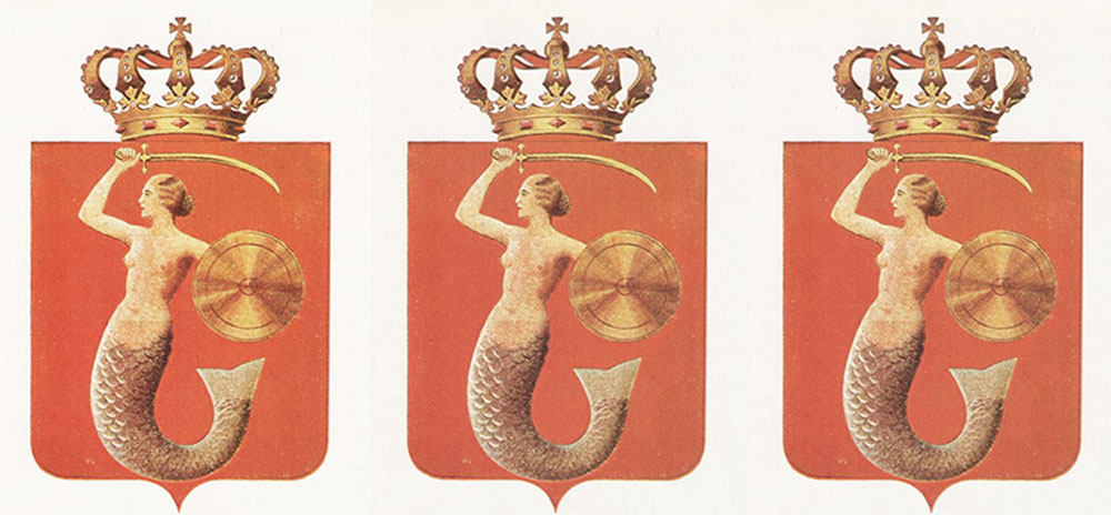 The Warsaw Mermaid, the capital's coat of arms, 1938, photo: National Archive in Warsaw