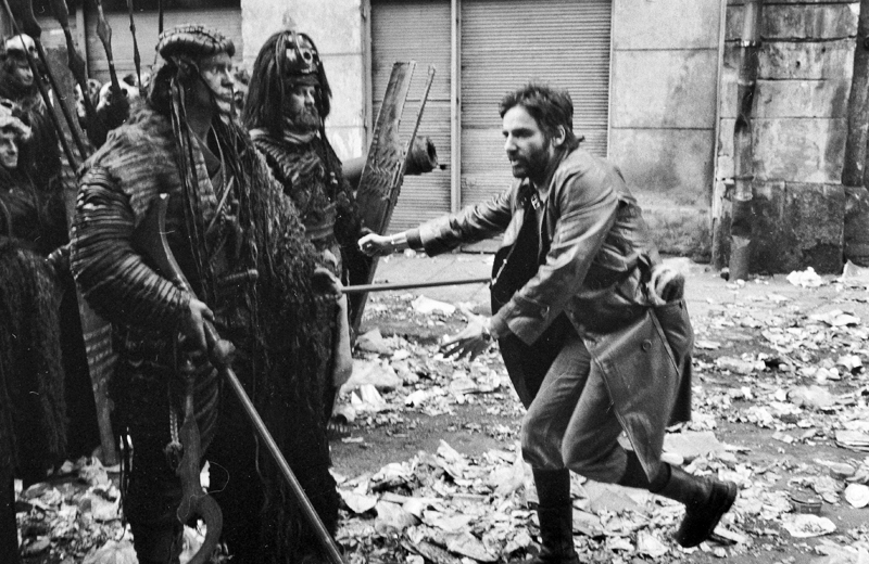 Andrzej Żuławski on the set of  On the Silver Globe based on The Lunar Trilogy by Jerzy Żuławski, 1978, photo: Tomek Sikora / Forum