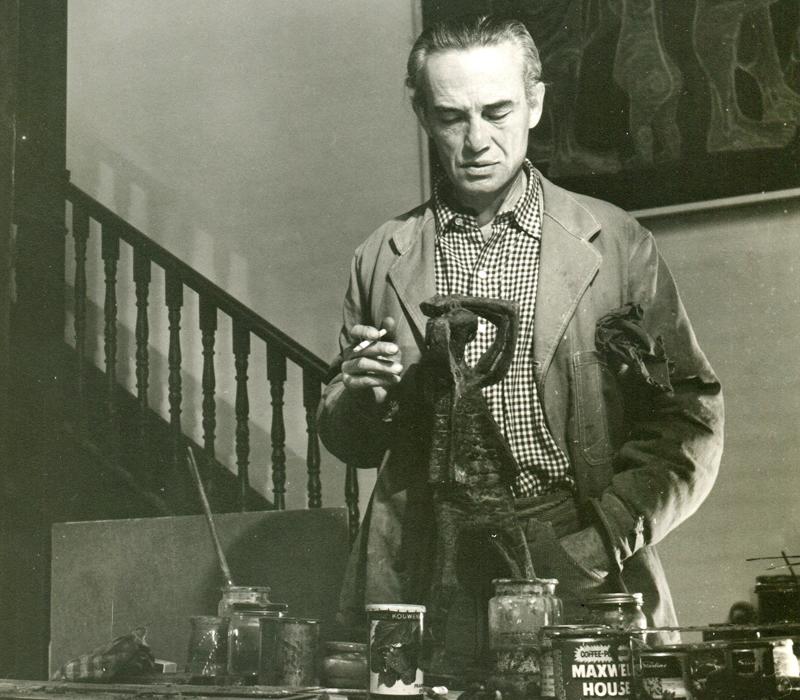 Марек Жулавский в мастерской, фото из семейного архива