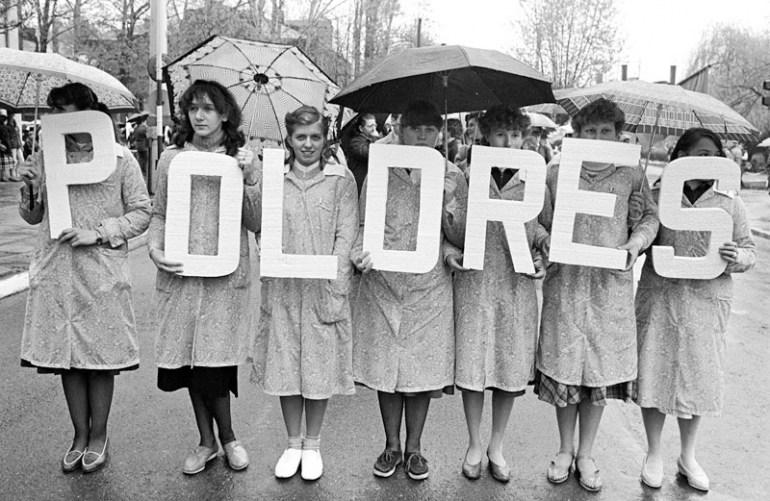 POLDRES workers in Żyrardów,International Worker's Day 1985, photo. by Krzysztof Pawela / Forum