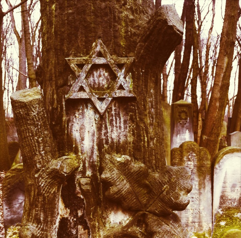 Detail of Matzevah in Jewish Cemetery, Photo: Paul Bargetto