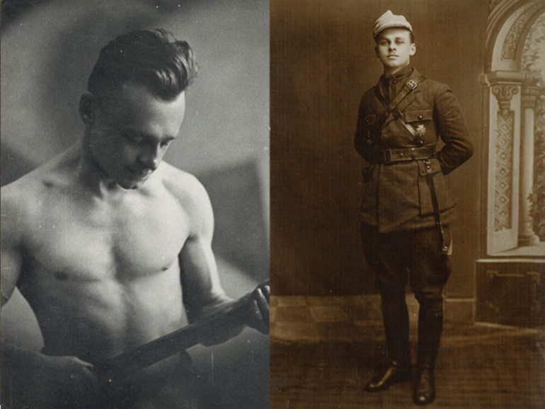Witold Pileckiz szablą, walka o granice wschodnie, oraz Pilecki, Wilno, 1923, fot. IPN / www.pilecki.ipn.gov.pl