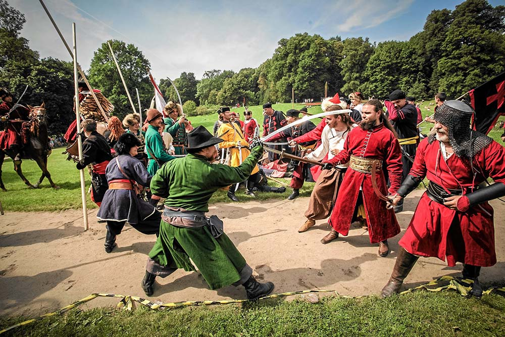 A history reenactement titled When Swedes Fought near Bydgoszcz, Ostromlecz near Bydgoszcz, photo: Łukasz Nowaczyk / AG