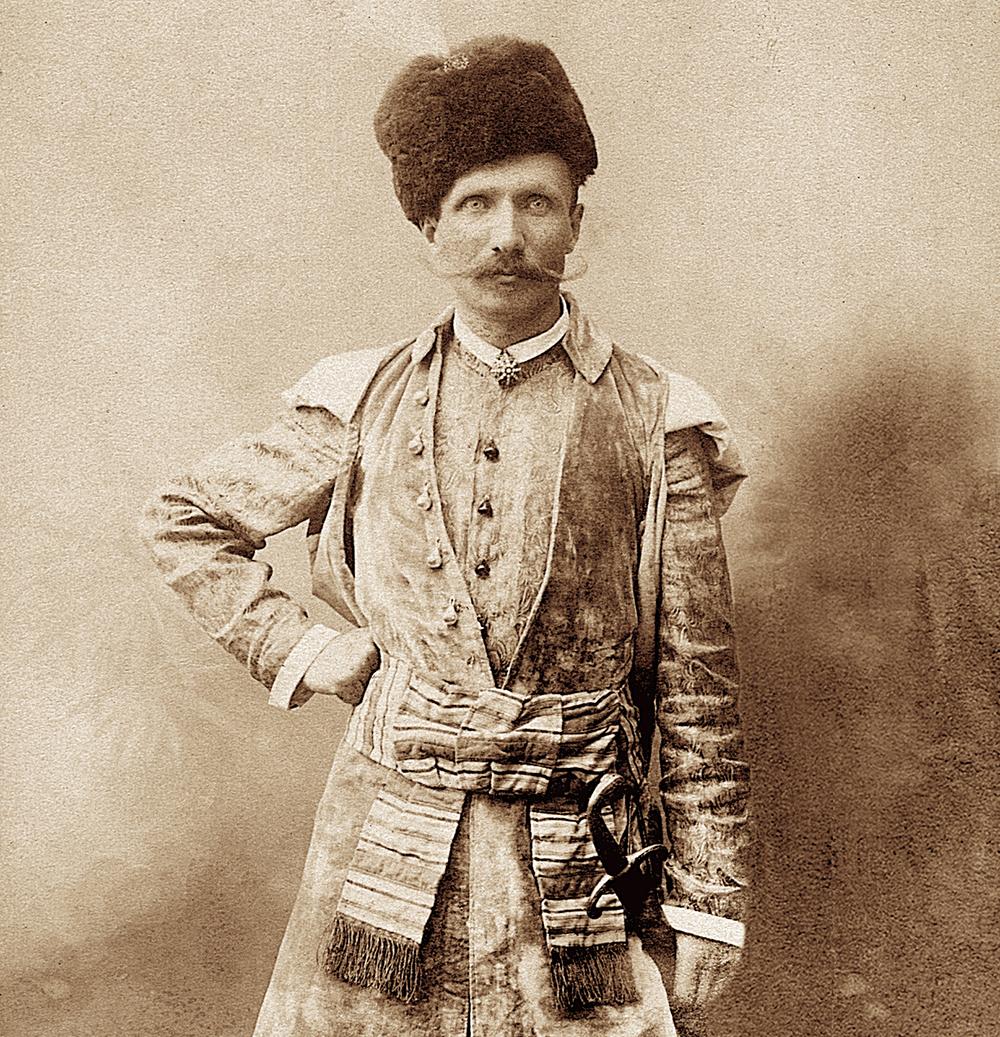 Portrait of a man in a stylized Polish dress, photo: J.Sebald's photographic parlour in Kraków, 1905; reproduction: Janusz Fila / Forum