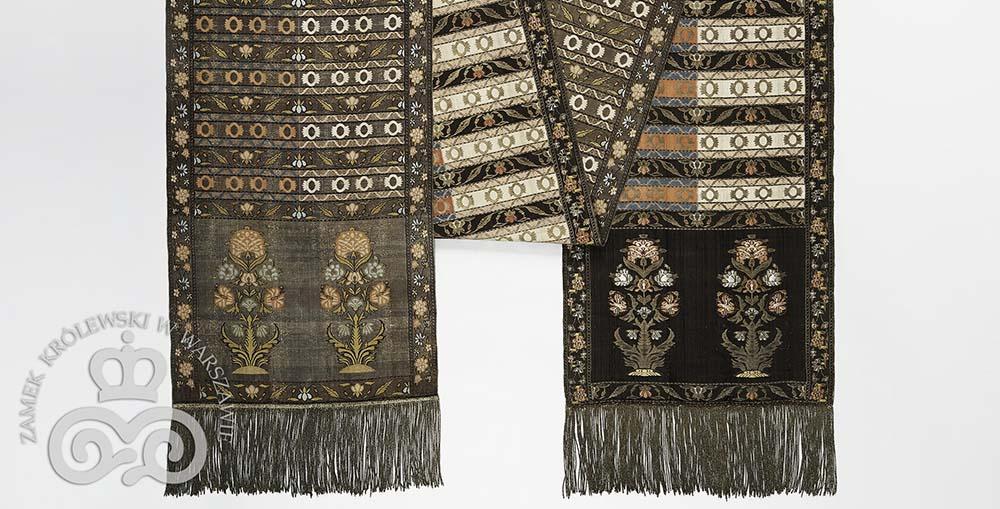 Kontusz sash (detail), Radziwiłłs' manufactory, Słuck (1762-1842), Jan Madżarski, technique: simple weft weave, brocading, photo: Royal Castle in Warsaw