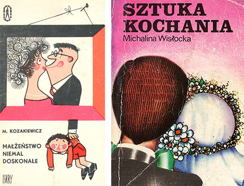 Covers for two books: An Almost Perfect Marriage by Mikołaj Kozakiewicz, and The Art of Loving by Michalina Wisłocka, photo: Dagmara Smolna