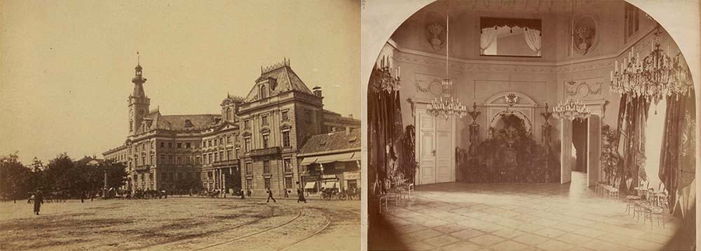 Jabłonowski Palace, exterior & interior, 1870, photo: mbc.cyfrowemazowsze.pl