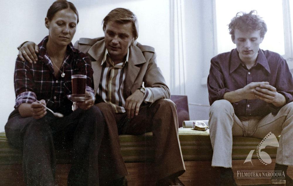 """""""Zdjęcia próbne"""" w reżyserii Agnieszki Holland, 1976, fot. J. Zachwajewski/Studio Filmowe """"Kadr""""/Filmoteka Narodowa, fototeka.fn.org.pl"""