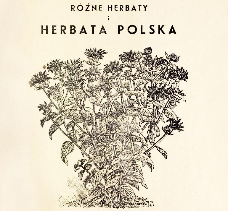 """""""Różne herbaty i herbata polska"""", wydawnictwo czasopisma """"Polskie Zioła"""", Warszawa, 1935"""