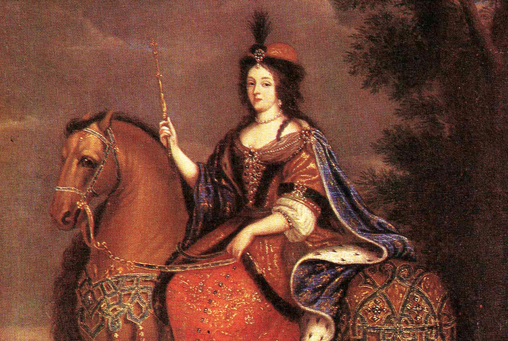 Equestrian Portrait of Queen Marie Casimire by an unknown artist, 1670, photo: Museum of King Jan III's Palace in Wilanów