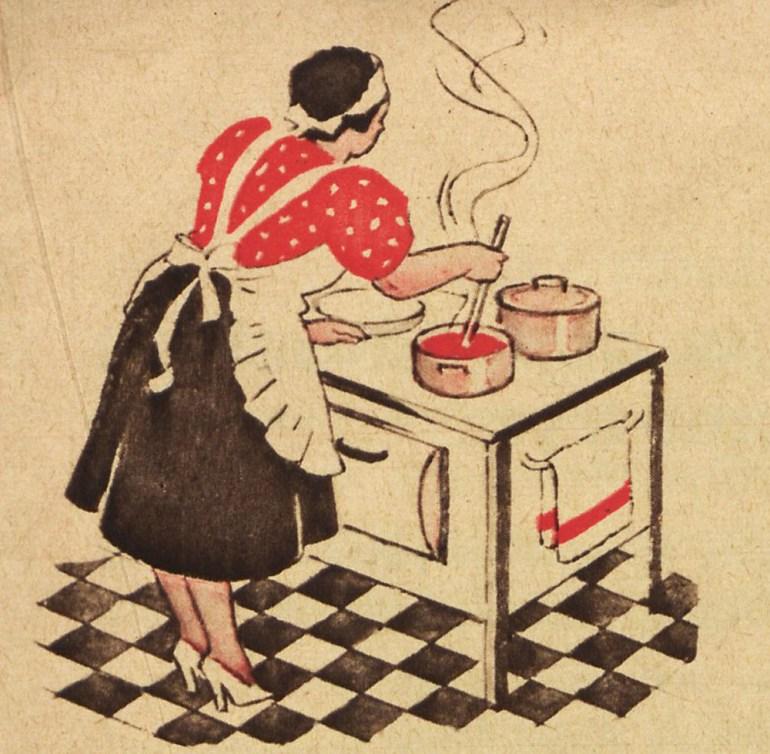 Illustrations from Wypróbowane przepisy i różne wskazówki culinary book, Warsaw, 1932, photo: The National Library of Poland (Polona)