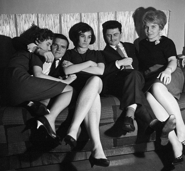 Polska, 1960, domówka, fot. Jerzy Makowski / Forum