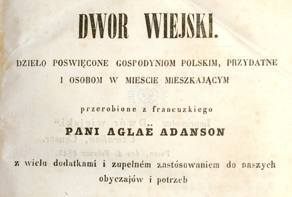 Dwór Wiejski, Karolina Nakwaska, photo: National Library of Poland (Polona.pl)