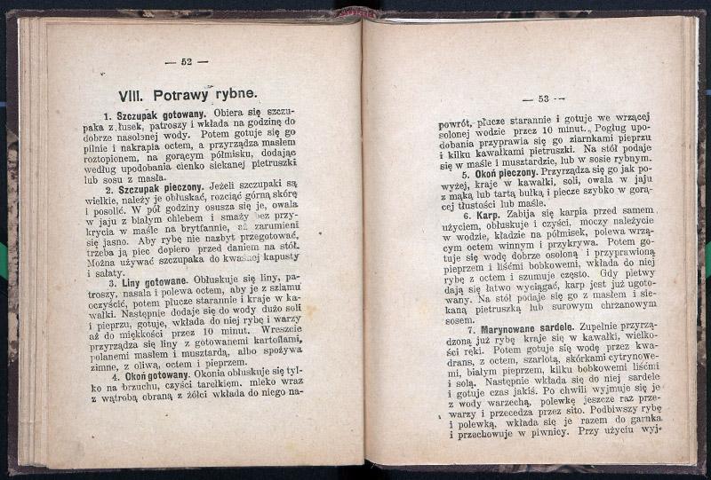 Рыбные блюда из поваренной книги 1913 г. Источник: Polona