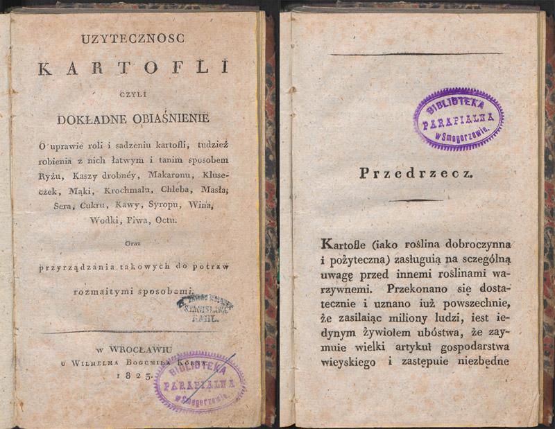 «Польза картофеля», 1823. Источник: Polona