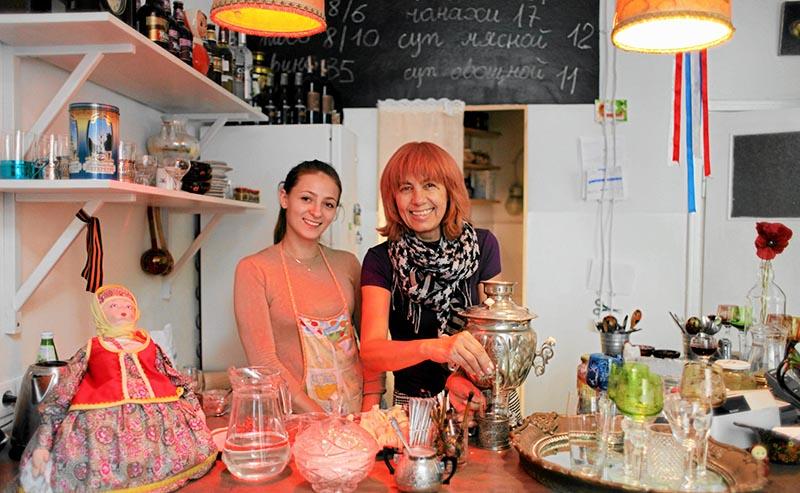Ресторан «Skamiejka» и его хозяйка Тамара Скамейка. Фото: Славомир Каминьский/AG