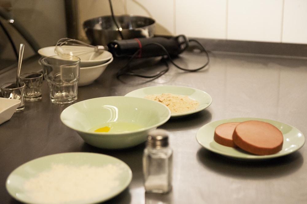 Basic ingridients: mortadela, eggs, salt, flour, photo: Culture.pl