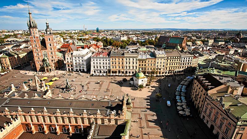 Widok na Rynek Główny, Kraków, fot. Jakub Ociepa  / AG