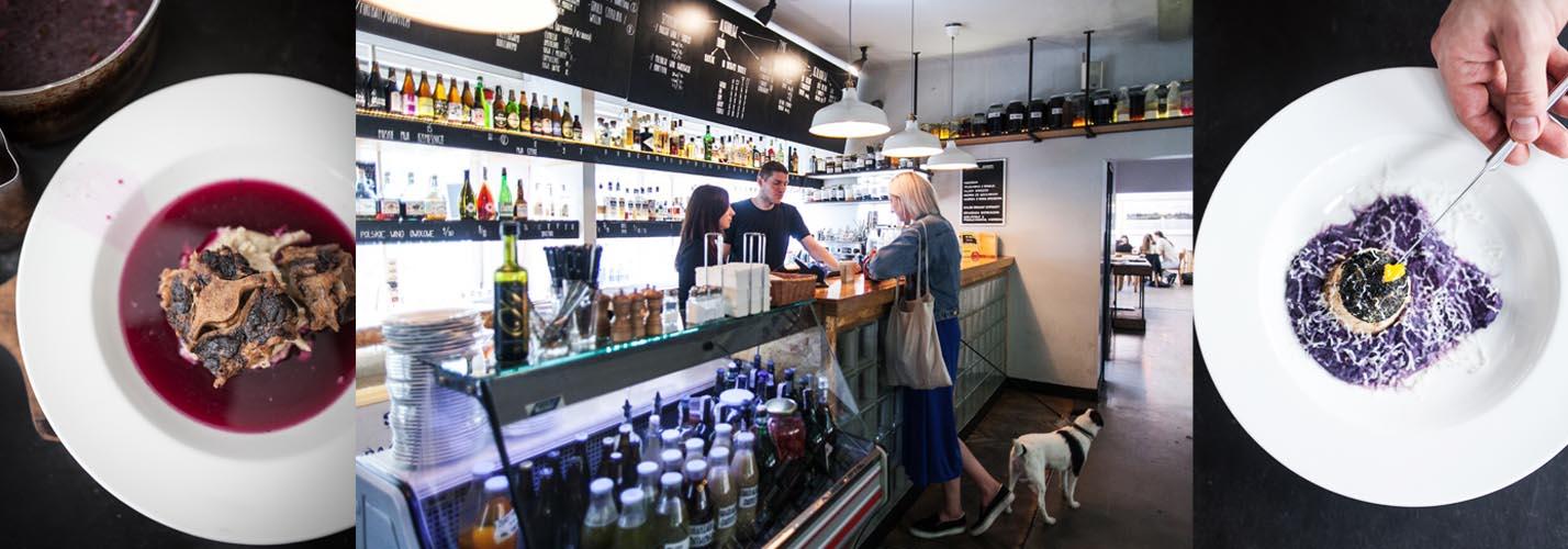 Potrawy oraz wnętrze restauracji Solec 44, fot. restauracja Solec 44