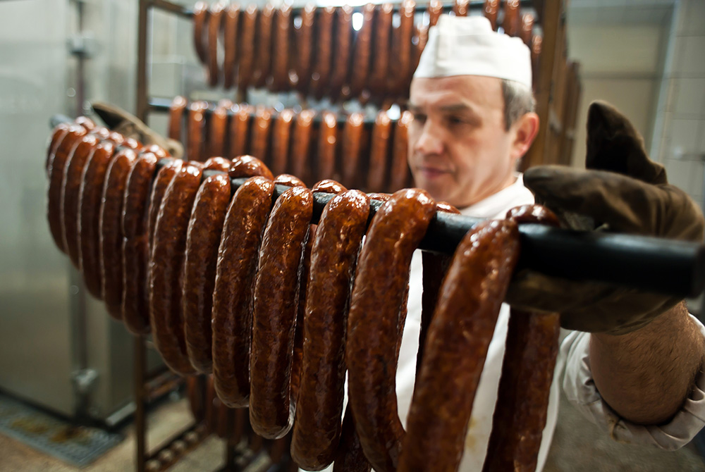 Bacówka – the biggest producer of traditional Polish smoked meats in Małopolska, photo: Wojciech Matusik/Forum