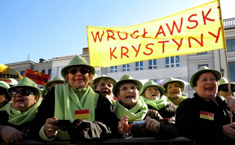 Kilkaset Krystyn obchodzilo swoje imieniny w Bialymstoku na XVII Ogolnopolskim Zjezdzie Krystyn   Fot. Leon Stankiewicz/Reporter