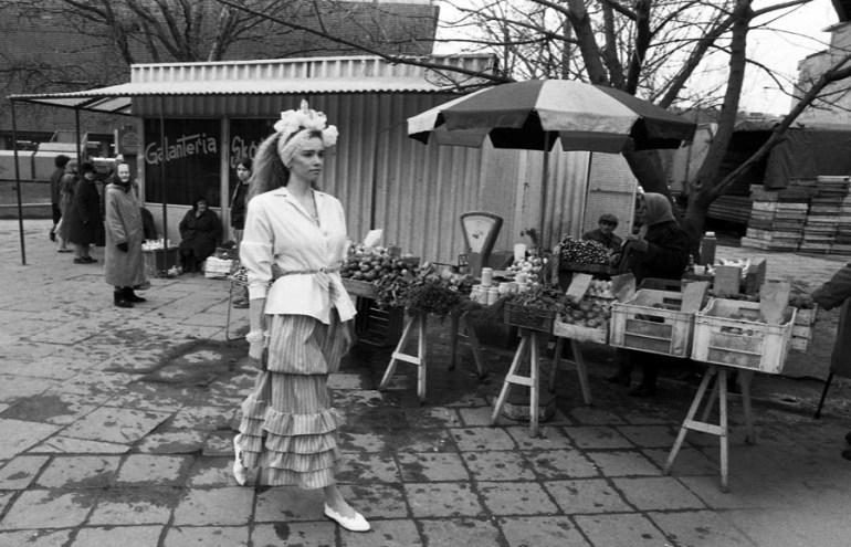 Moda Grażyny Hase kolekcja, 1987, Warszawa, fot. Jerzy Kośnik / Forum