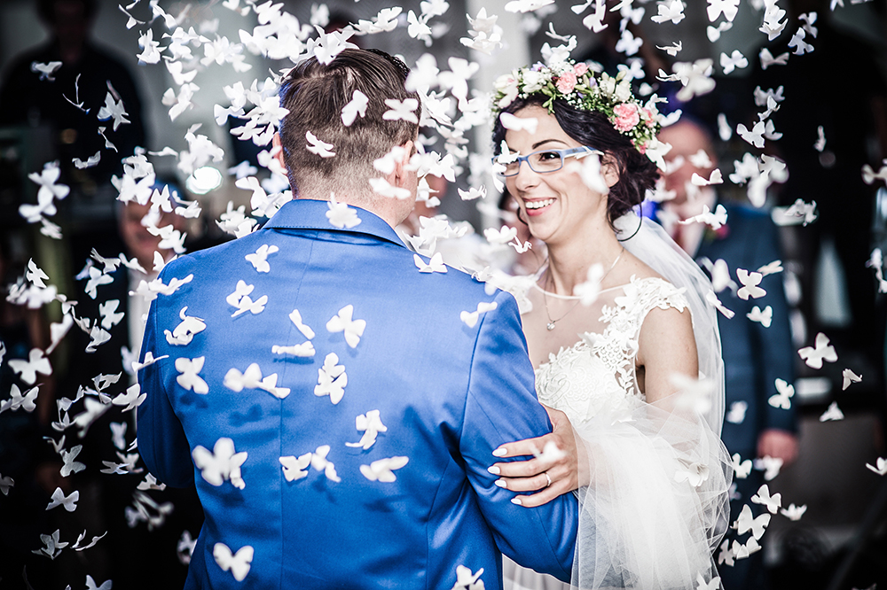 Lubliniec. The happy couple's first dance, photo: Daniel Dmitriew/Forum