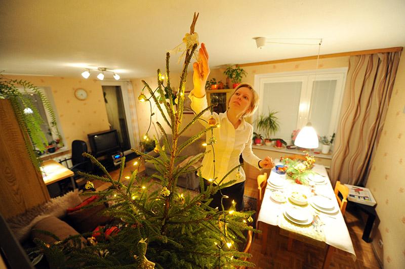 Christmas Eve, awaiting guests, photo: Lech Gawuc / Reporter