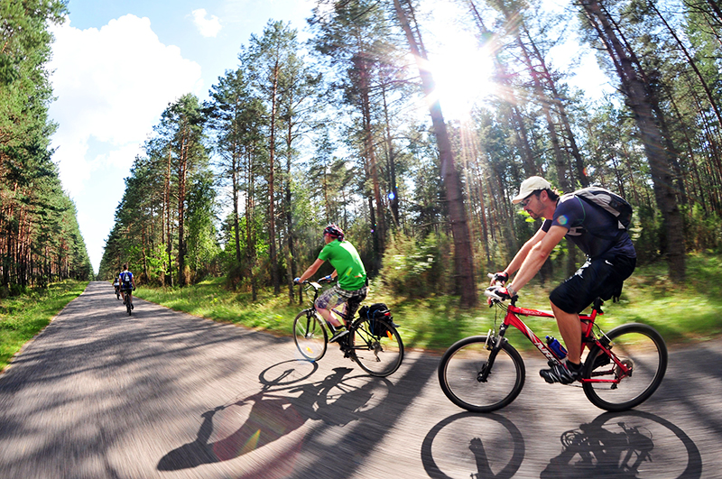 Cyclists, photo: Lech Gawuć / Reporter