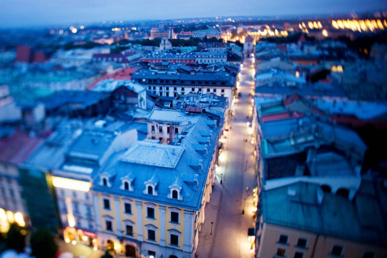 Kraków, a view of Floriańska Street from the tower of Saint Mary's Church, photo: Tomasz Wiech / Forum