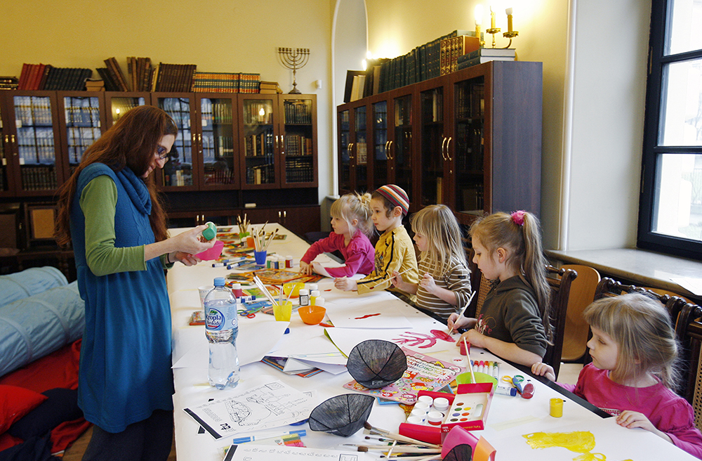 Nożyk Synagogue, workshops for kids, photo: Rafał Guz/Forum