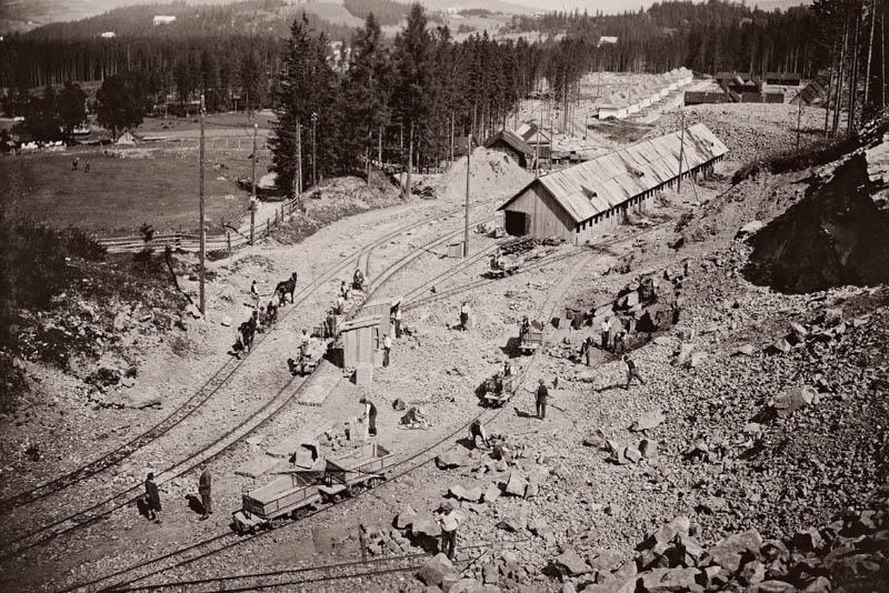 Kamieniołom na Capkach w Zakopanem sprzed I wojny światowej. Dzięki TPN teren przywrócono przyrodzie, fot. Henryk Schabenbeck