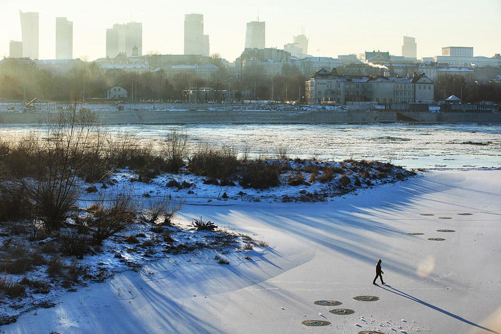 Висла зимой, Варшава, 2017. Фото: Яцек Лаговский /Forum