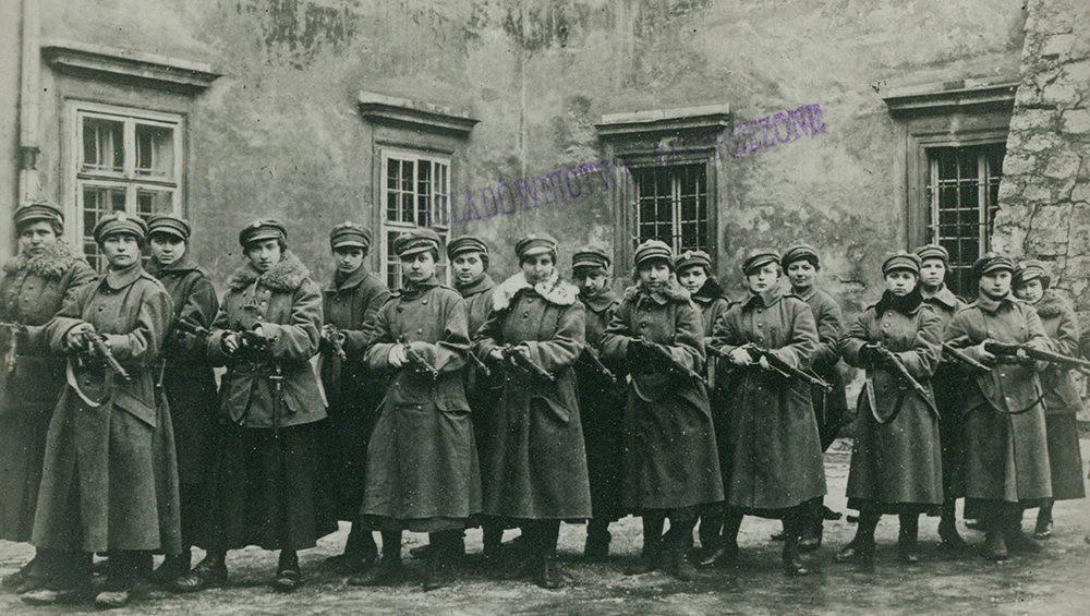 A platoon from the Women's League in Lviv, 1918, photo: National Library/POLONA