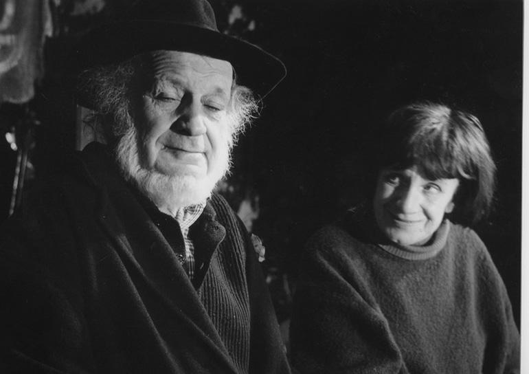Piotr Skrzynecki i Janina Garycka w Piwnicy pod Baranami w 1993 r., fot. Zbigniew Lagocki / REPORTER