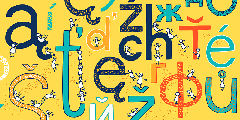 Polish alphabet will give you plenty of fun; Artwork by: Katarzyna Piątek