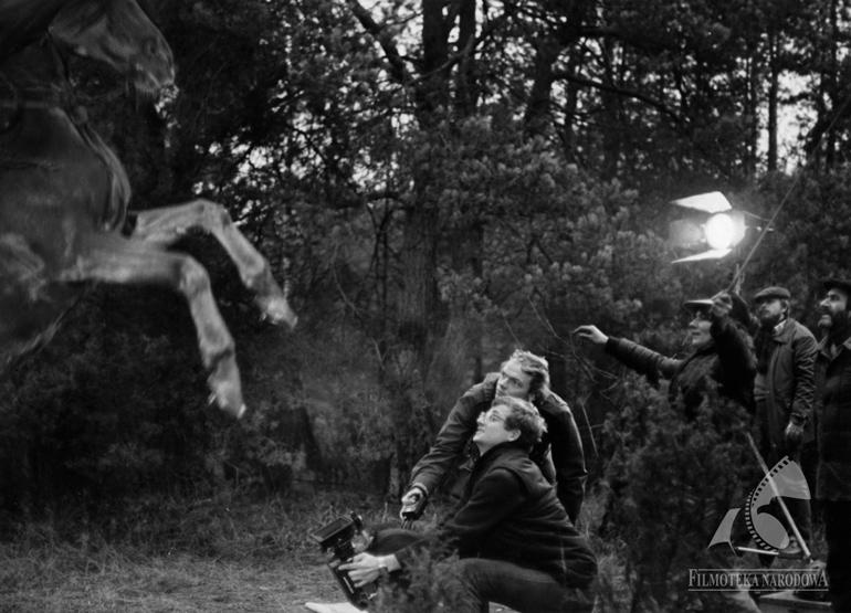 Scene from the filming of Marek Nowicki's film The Phantom, photo: Filmoteka Narodowa / www.fototeka.fn.org.pl
